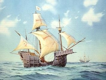 Early sailing ships typical carrack vespuccis ship publicscrutiny Choice Image