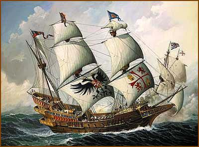 Early sailing ships spanish galleon publicscrutiny Choice Image